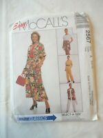 Vintage 2000 Sewing Pattern Shirt ,Top , Pants , Short & Skirt Size 6-8-10 Uncut
