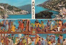 AMALFI - Pannello Ceramico del Pittore Diodoro Cossa con la Storia della Città