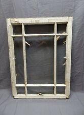 Antique 9 Lite Window Sash Shabby Cottage Chic 31x23 Vtg Architectural 634-17P