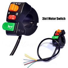 """3in1 7/8"""" 22mm Faros/luz de giro del manillar/Interruptor de Motor de cuerno E-Bike-B"""