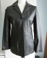 Womens KENNETH COLE REACTION Women's Leather Jacket BLACK Small Petite