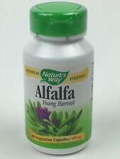 Alfalfa Leaves by Nature's Way 405 mg - 100 Vegetarian Capsules Exp: 3/31/22