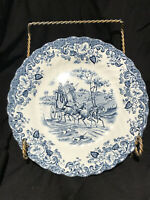 """Johnson Brothers Blue Coaching Scenes HUNTING COUNTRY 6"""" Bread Butter Plates"""