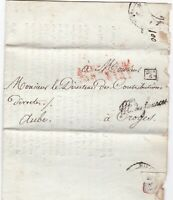# 1812 PARIS FRANCE PRINTED LETTER MINISTERE DES FINANCES AT CROYES PRE-STAMP