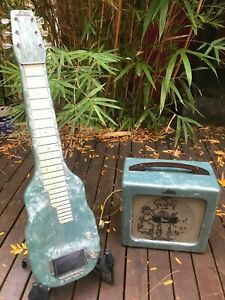 Vintage Magnatone Noble Lap Steel Combo with 5W Tube Amp