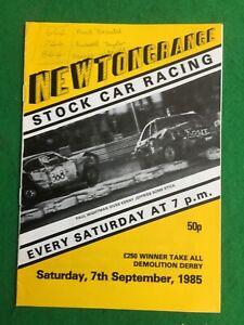 Stock car racing programme Newtongrange 7th September 1985