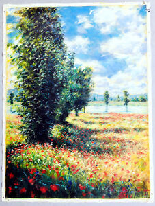 Tito Lapico - Exhibition of Flowers - oil on Canvas