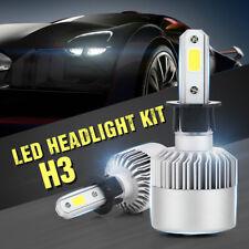 2x Car Front H3 LED Headlight Bulbs Canbus Conversion Kit Cool White Beam 6500K