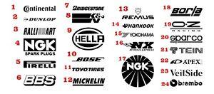 Sponsoren Set 14 st, Motorrad Auto Aufklebe Sticker, Freie Auswahl, Farbauswahl