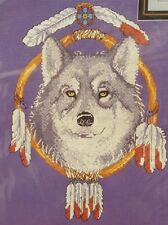 Janlynn Counted Cross Stitch Dream Catcher Wolf Kit Feathers New/Sealed