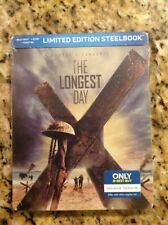 The Longest Day 1962(Blu-ray+DVD/Digital,Steelbook)NEW Authentic US RELEASE