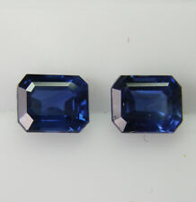 1.29ct!! NATURAL COLOUR BLUE SAPPHIRES MATCHING PAIR  +CERTIFICATE AVAILABLE
