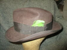 ROYAL STETSON 1940s - 1950s CHOCOLATE BROWN HAT 2 1/8 WIDE BRIM SIZE 7 1/4