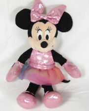 TY Sparkle Minnie Disney Small Plush With Pink Dress With Colorful Tulle Skirt