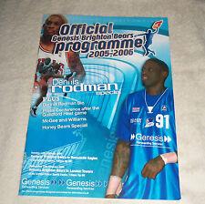 Nba : Dennis Rodman Brighton Bears Basketball Game Programme