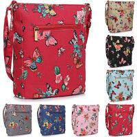 Medium Ladies Butterfly Vintage Canvas Cross Body Shoulder Bag Women Handbags UK