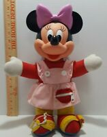 Disney Minnie Mouse Teach Me To Dress Zip, Tie Button Dress Me Doll 80s vintage