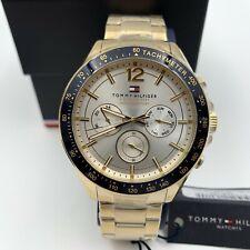 Tommy Hilfiger Hombre Reloj Cuarzo Plata Oro Acero Inoxidable Cronógrafo 1791121