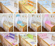 Baby Bettset 5-20T mit Chiffonhimmel Bettwäsche Nestchen Stange Wickelauflage