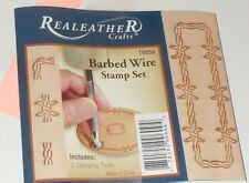 Leather Stamping 3 BARBED WIRE STAMPING Tools Set