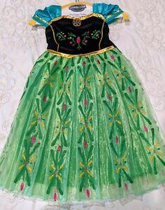 DISNEY PRINCESS ANNA FROZEN COSTUME DRESS GIRLS SIZE 4-5