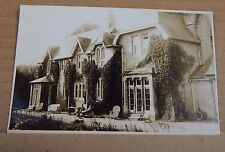 Postcard RPPC Edwardian Villa People sat outside Wicker Chairs  Unposted