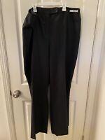 Pendleton Black Dress Pants Savvy Stretch Wool Plus Women's Size 22W NWT