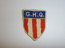0487 WW 2 US Army CBI Patch G.H.Q. General Headquarters HQ China Burma India R4C