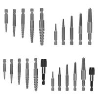 6pcs Hex Shank Broken Screw Extractor Kit Guide Damaged Bolt Stud Remover Set