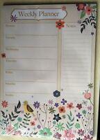 Nuevo Semanal Escritorio Agenda Arrancar Páginas Notas 28x20cm - Pájaros Y