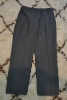 Talbots Size 4 Petites Women Gray Wool Stretch Dress Pants Career Made in Italy