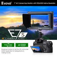 Eyoyo E7S 7 Inch On Camera Field Monitor 1920x1200 Supports 4K 170° Wide Angle