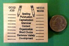 Good Job/Needs Work, Teacher's Grammar Editing Wood Mounted Rubber Stamp