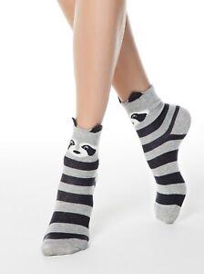 CONTE Fancy Classic 317 Gray Raccoon Soft Cotton SOCKS