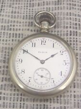 Vieja reloj de bolsillo Elgin estados unidos níquel 1909