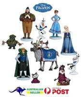 Frozen 10 Pce Figures Set Lot Cake Toppers Olaf Elsa Anna Sven Kristoff