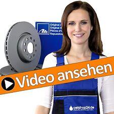 ATE Bremsen Kit Set 2 Bremsscheiben Belüftet Ø 256 mm + 4 Bremsbeläge vorne