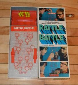 VTG 1970 RATTLE BATTLE Quick Draw Marble Game Parker Brothers, No.36 complete