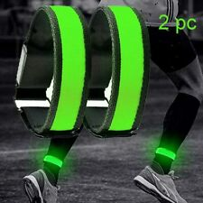 2 Pack Running Light LED Adjustable Glowing Bracelets for Runners Cyclists