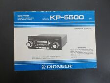 Pioneer KP-5500 Super Tuner Cassette Car Stereo Owner's Manual Only