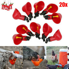 20pcs Chicken Poultry Water Drinker Cup Coop Plastic Bowl Automatic Pigeon Farm