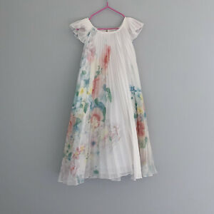 Mayoral Girls Pleated Summer Dress Age 10 Years Summer Patterned Floral