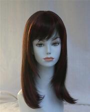 Red long Wig w/layered sides & Bangs - Lolita Hairdo