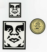 OBEY GIANT Shepard Fairey 3 STICKER LOT Set #18 BRAND NEW Dept Urban Protection