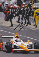 Dan wheldon main signé photo 12x8.