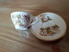CAVERSWALL  MINIATURE CUP & SAUCER  CHRISTMAS 1979  Pre Owned