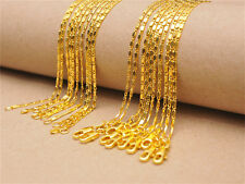 10PCS 18inch 18K Yellow Gold Filled Smooth Chain Necklaces Wholesale