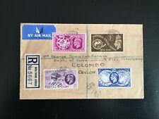 More details for gb 1949 u.p.u registered fdc to ceylon. walton cross pmk (1181)