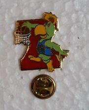 ANT-1992- MASCOTA AMIGO BASKETBALL PIN, JJ PANAMERICANOS INDIANAPOLIS 1987