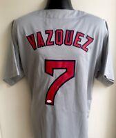 Christian Vazquez Boston Red Sox Autographed Signed Jersey JSA COA **MINT**